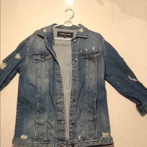 Express Long Jean Jacket